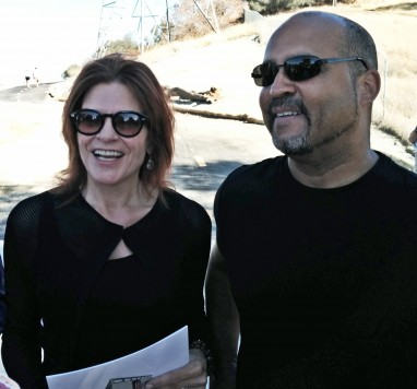 Singer Roseanne Cash and MyFolsom's Steve Heard at dedication ceremony