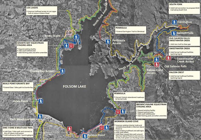 Folsom Lake Trails Map