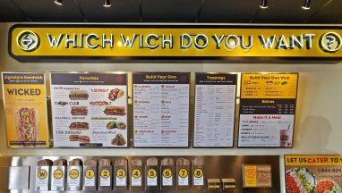 which wich menu